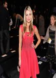 Katrina Bowden in Red Dress at Tadashi Shoji F/W 2014 Fashion Show in New York City