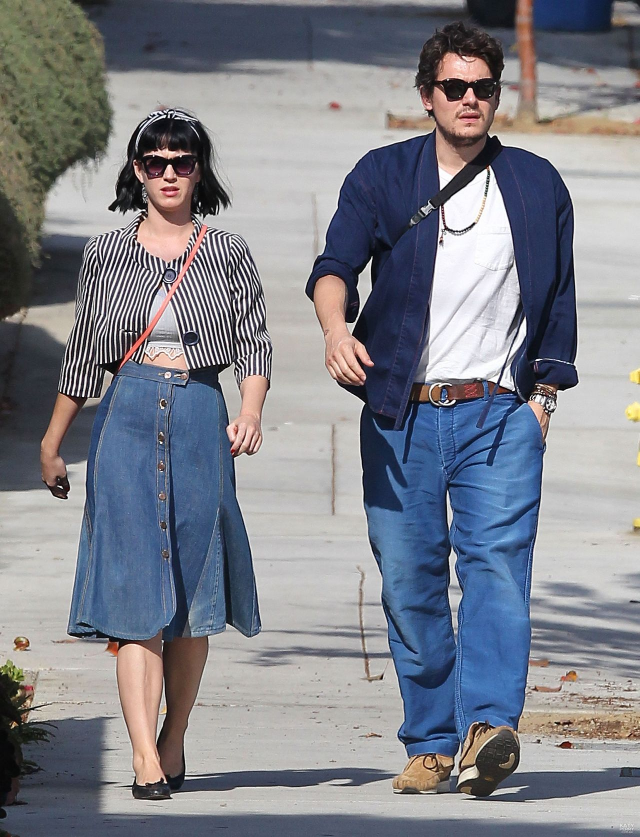 katy perry in denim skirt out in los angeles february 2014