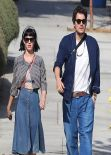Katy Perry in Denim Skirt - Out In Los Angeles, February 2014