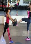 Kelly Brook at a Kickboxing Class
