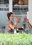 Kelly Brook at a Restaurant for Lunch in Miami - February 2014