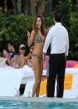 Kelly Brook Bikini Candids - in Miami - February 2014