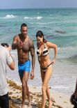 Kelly Brook Bikini Candids - Miami beach - February 2014