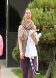 Kelly Brook Fitness Style - With a Friend Out in Los Angeles, February 2014