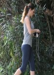 Kelly Brook Gym Style - in Tights Out in Los Angeles, February 2014