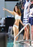 Kelly Brook in Black Bikini - Miami Beach - February 2014