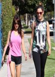 Kelly Brook in Spandex out with a Friend - Los Angeles, February 2014