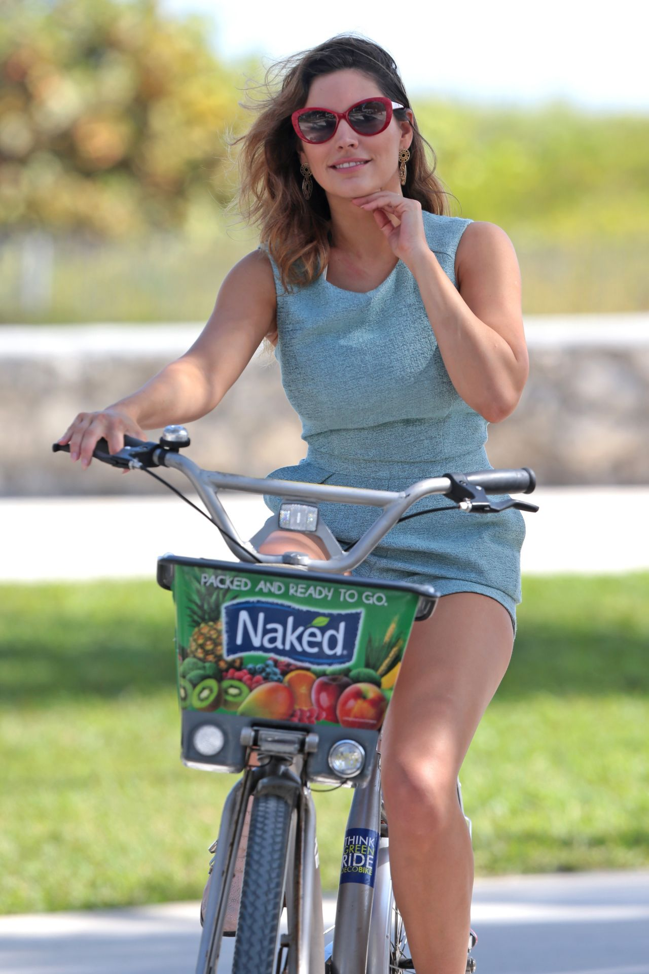 Riding a Bike Wearing a Dress