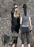 Kendall Jenner and Khloe Kardashian Hiking in Los Angeles, February 2014