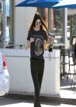 Kendall Jenner Street Style - Picking up Breakfast - Noah