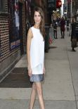 Keri Russell Shows Legs at the Late Show with David Letterman in New York City