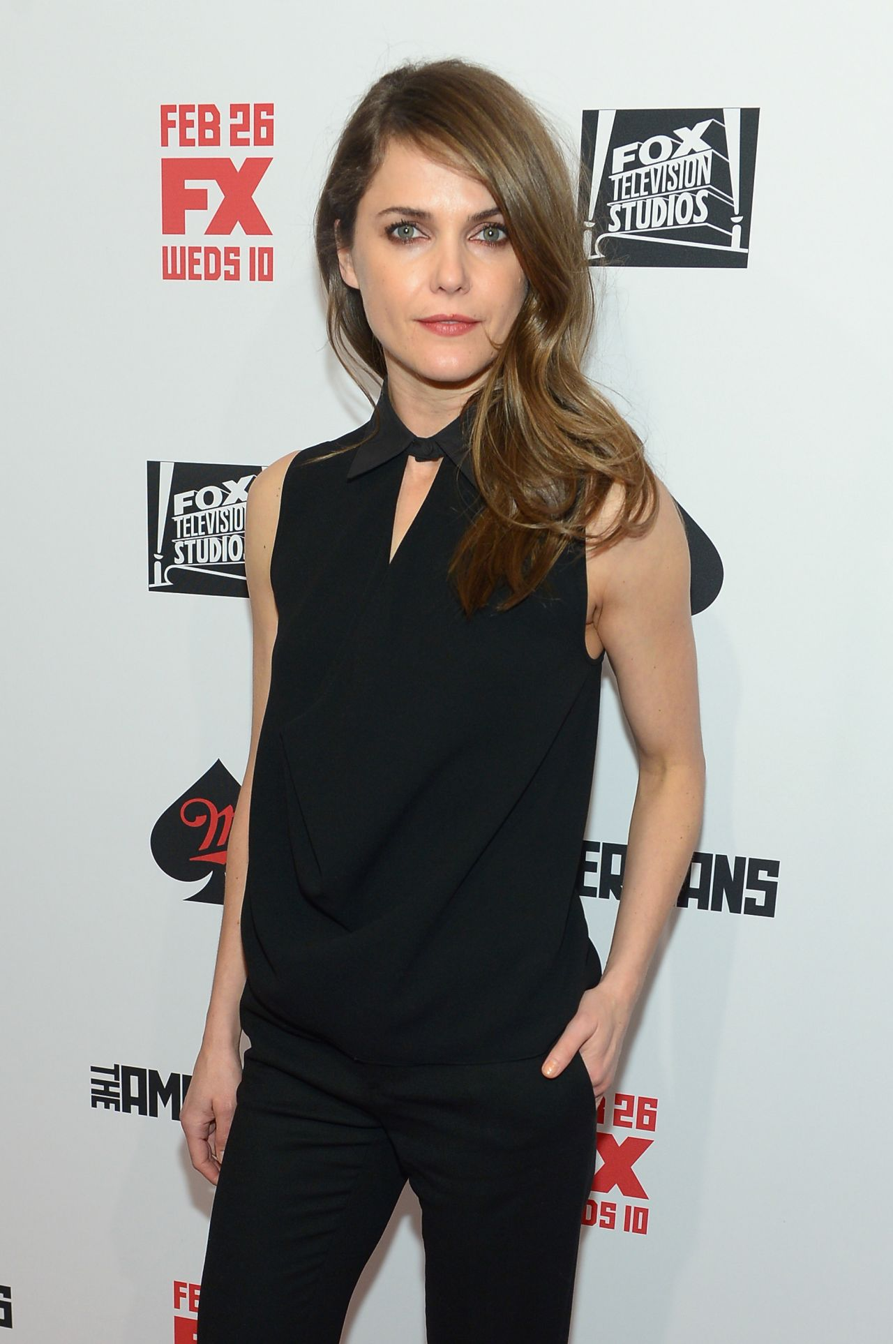 Keri Russell Wearing Saint Laurent & Balenciaga Ensemble – 'The Americans' Season 2 New York Premiere