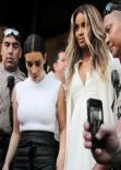 Kim Kardashian and Ciara - After Shopping at Bel Bambini in Los Angeles - February 2014