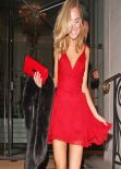 Kimberley Garner in Red Mini Dress - Langham Hotel - February 2014