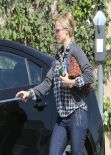 Kristen Bell in a Hurry - Out in Los Angeles, February 2014