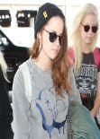 Kristen Stewart Street Style - LAX Airport, February 2014