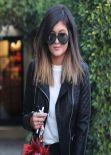 Kylie Jenner Street Style - Goes to Andy LeCompte Salon in Los Angeles - January 2014