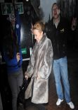 Kylie Minogue - Leaving a Studio in London, Feb. 2014