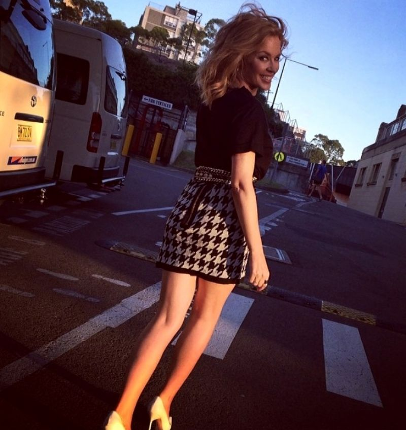 Kylie Minogue - Leggy - Twitter Photo From Sydney, Australia, February 2014