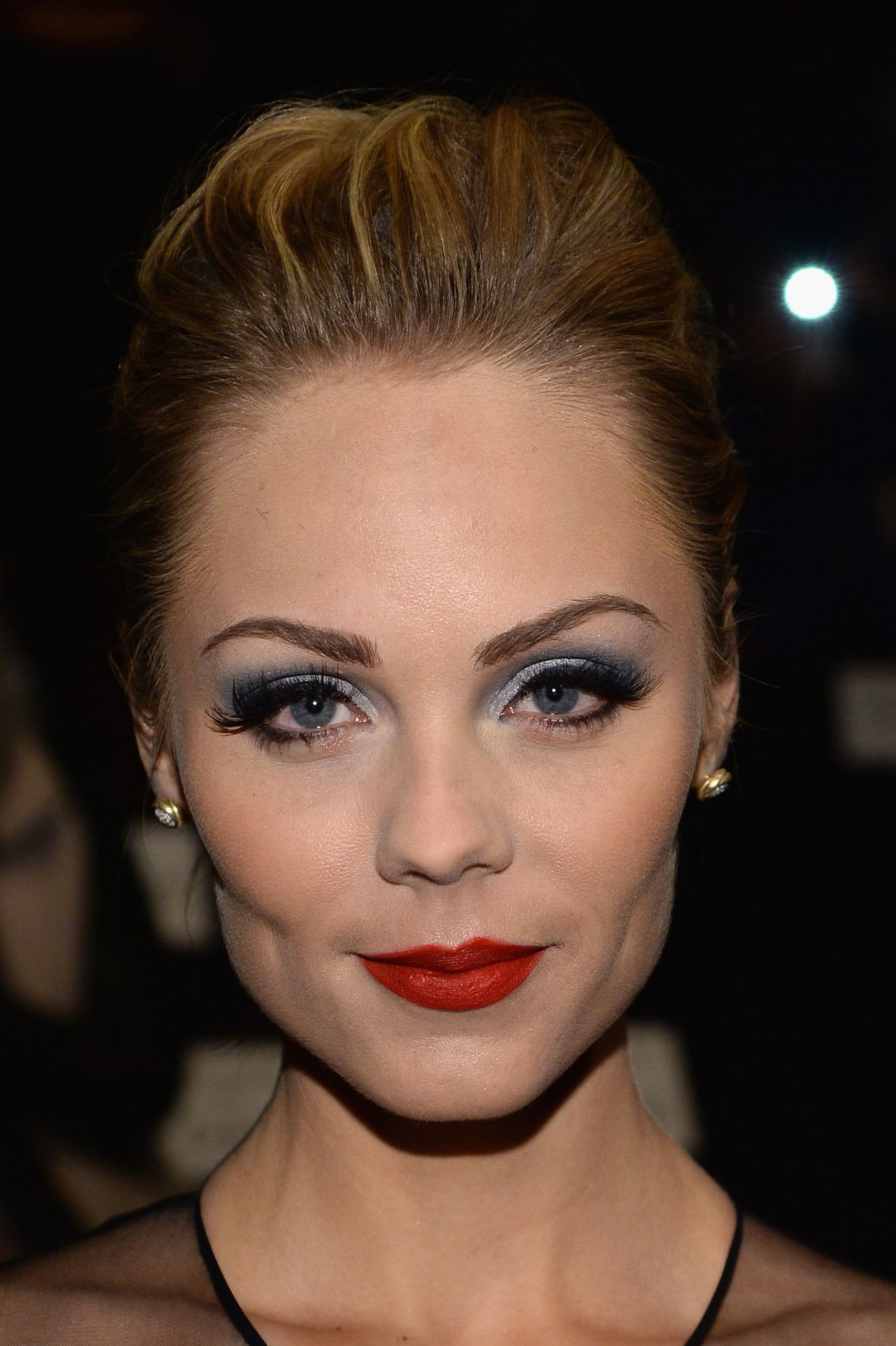 Laura Vandervoort at Naeem Khan Fashion Show in New York City