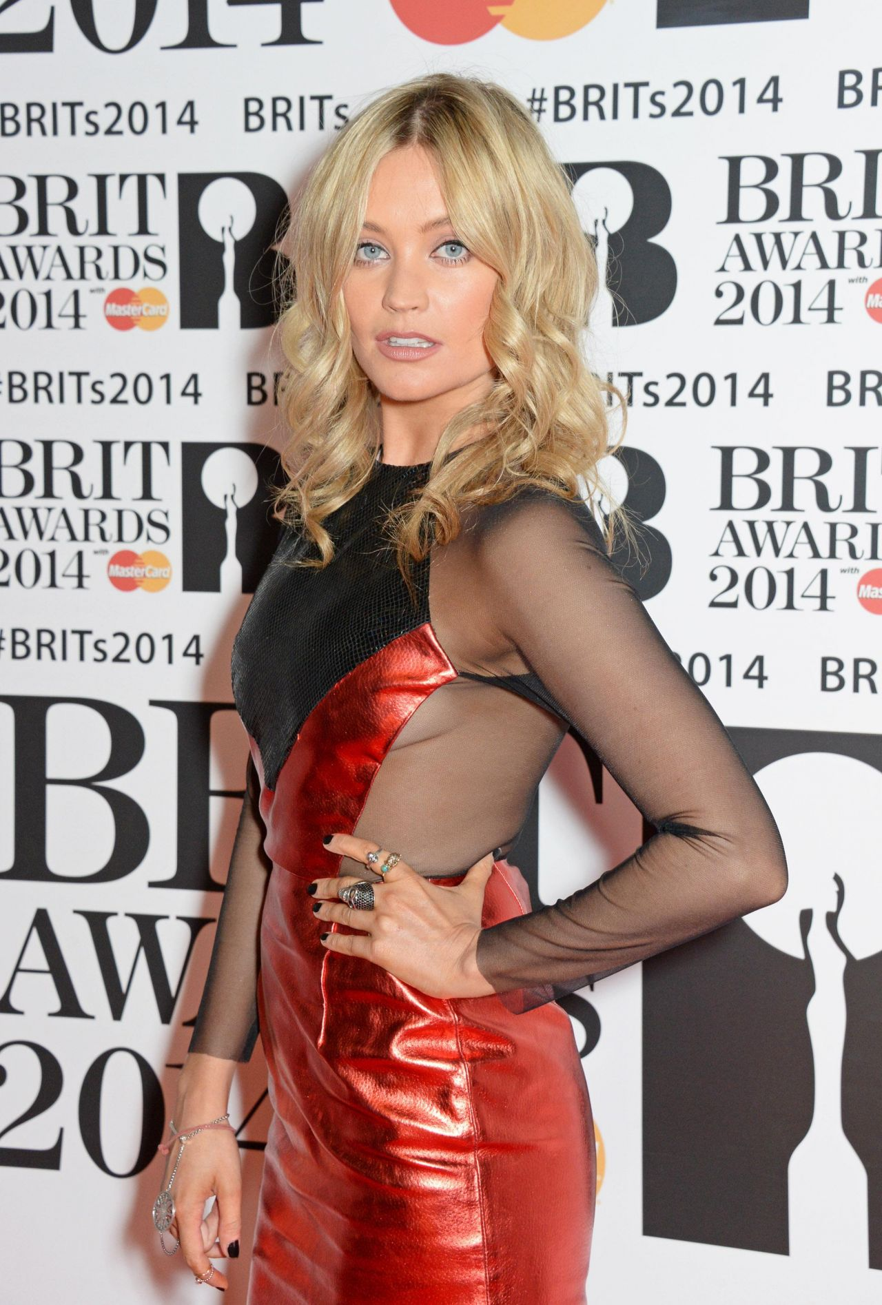 Laura Whitmore - 2014 BRIT Awards in London