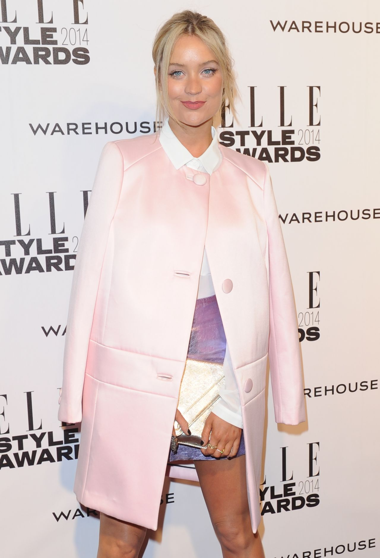 Laura Whitmore Wearing Warehouse – Elle Style Awards 2014