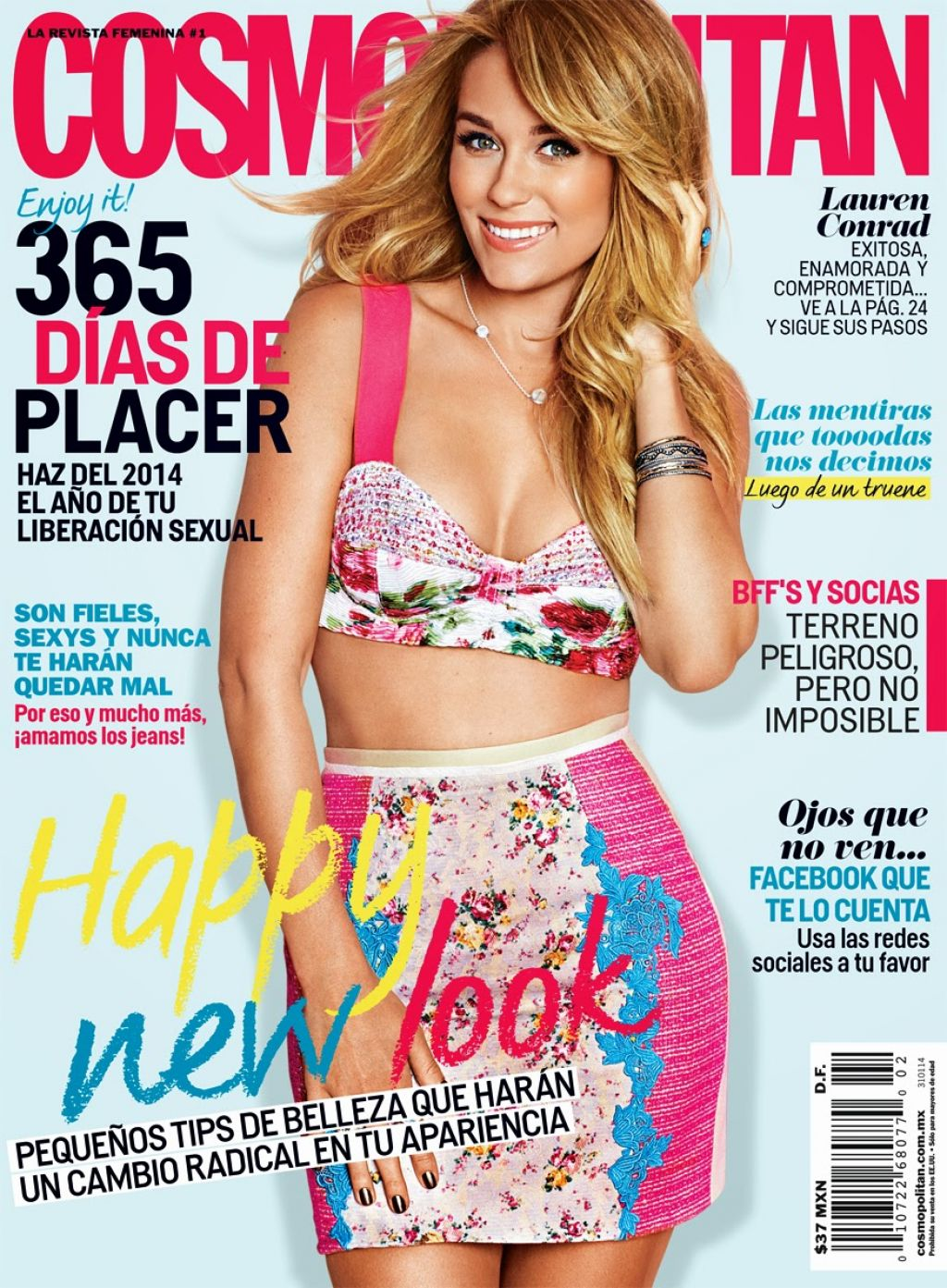 Lauren Conrad - COSMOPOLITAN Magazine (Mexico) - February 2014 Cover