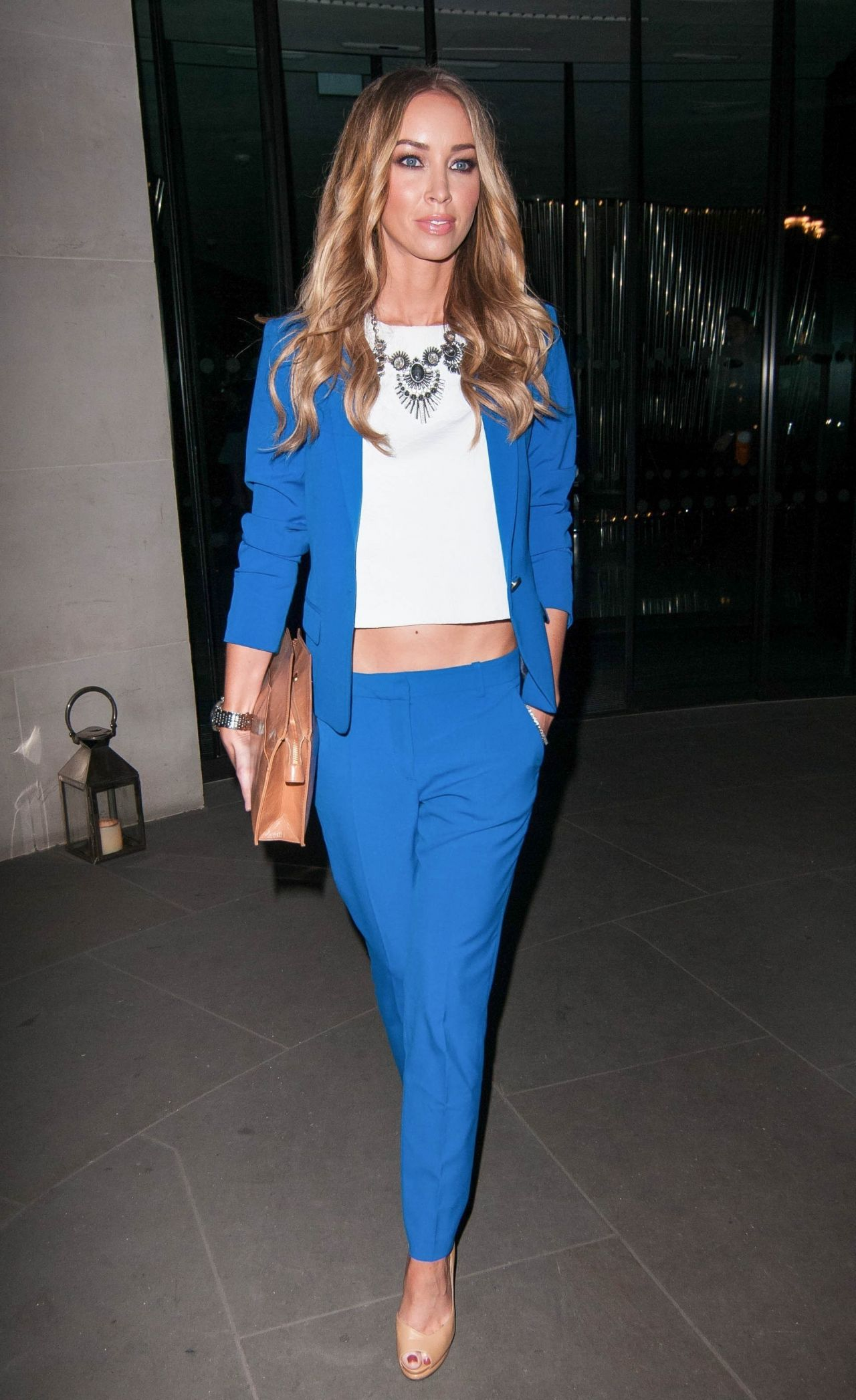 Lauren Pope Night Out Style - Out in London, February 2014