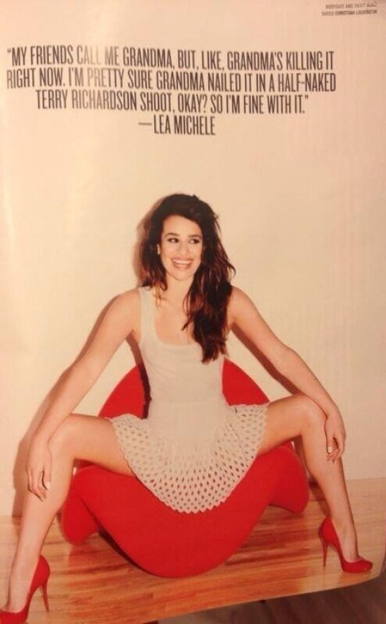Lea Michele - V Magazine Photoshoot (Terry Richardson)