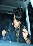 Lily Allen Arriving at the Esquire BAFTA Party, Feb. 2014