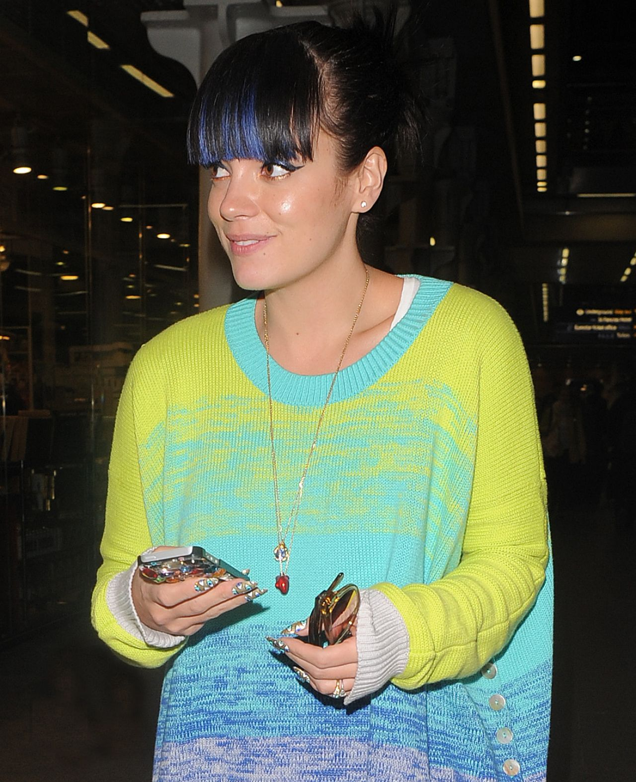 Lily Allen - at Eurostar St Pancras Station in London