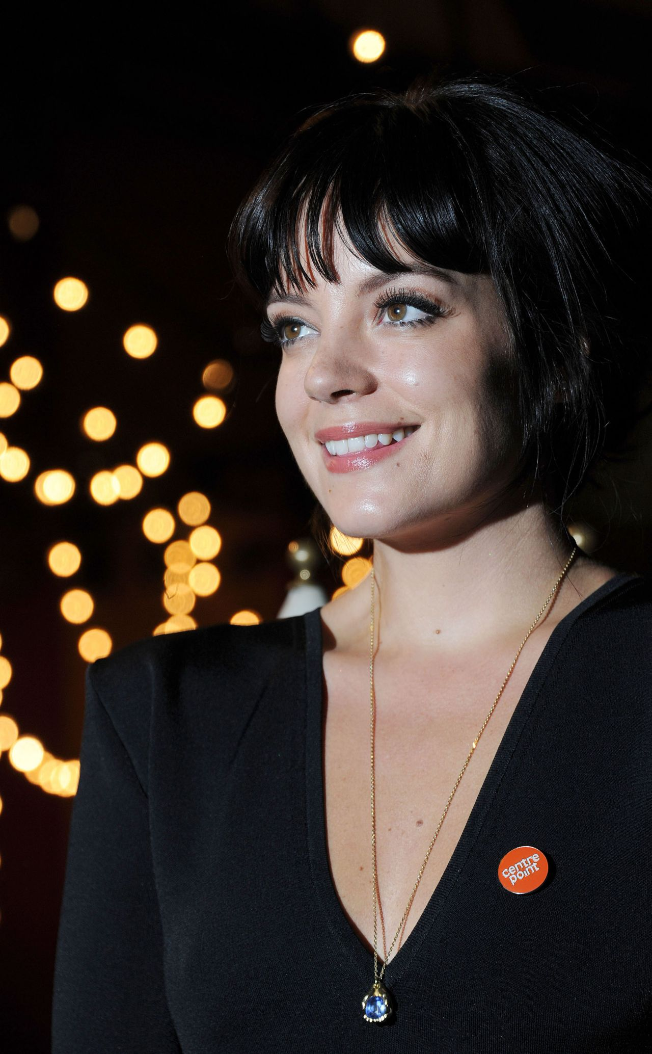 Lily Allen Wearing Roland Mouret Dress At The Ultimate Pub Quiz In London February 2014