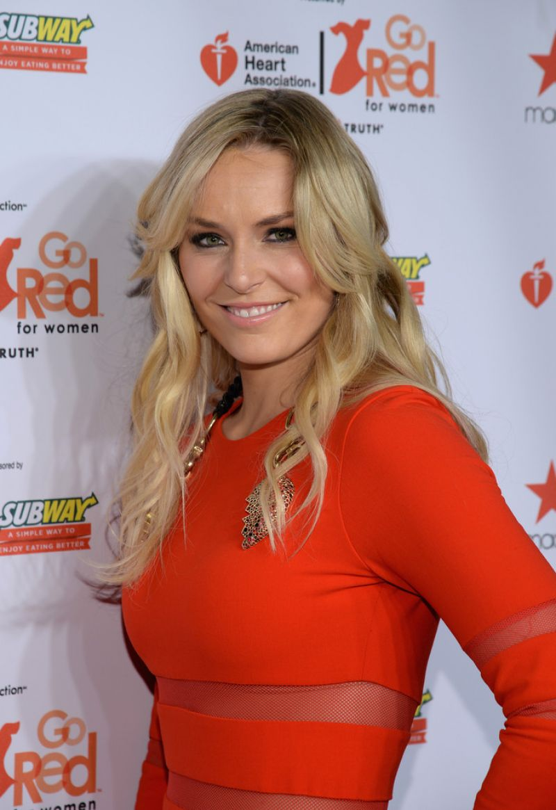 Lindsay Vonn - Go Red for Women & The Heart Truth Red Dress Collection 2014