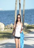 Lisa Opie Bikini Candids - Beach in Miami, February 2014