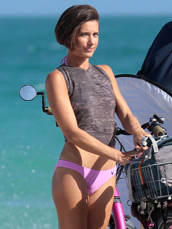 Logan Fazio In A Purple Bikini Miami Beach February 2014