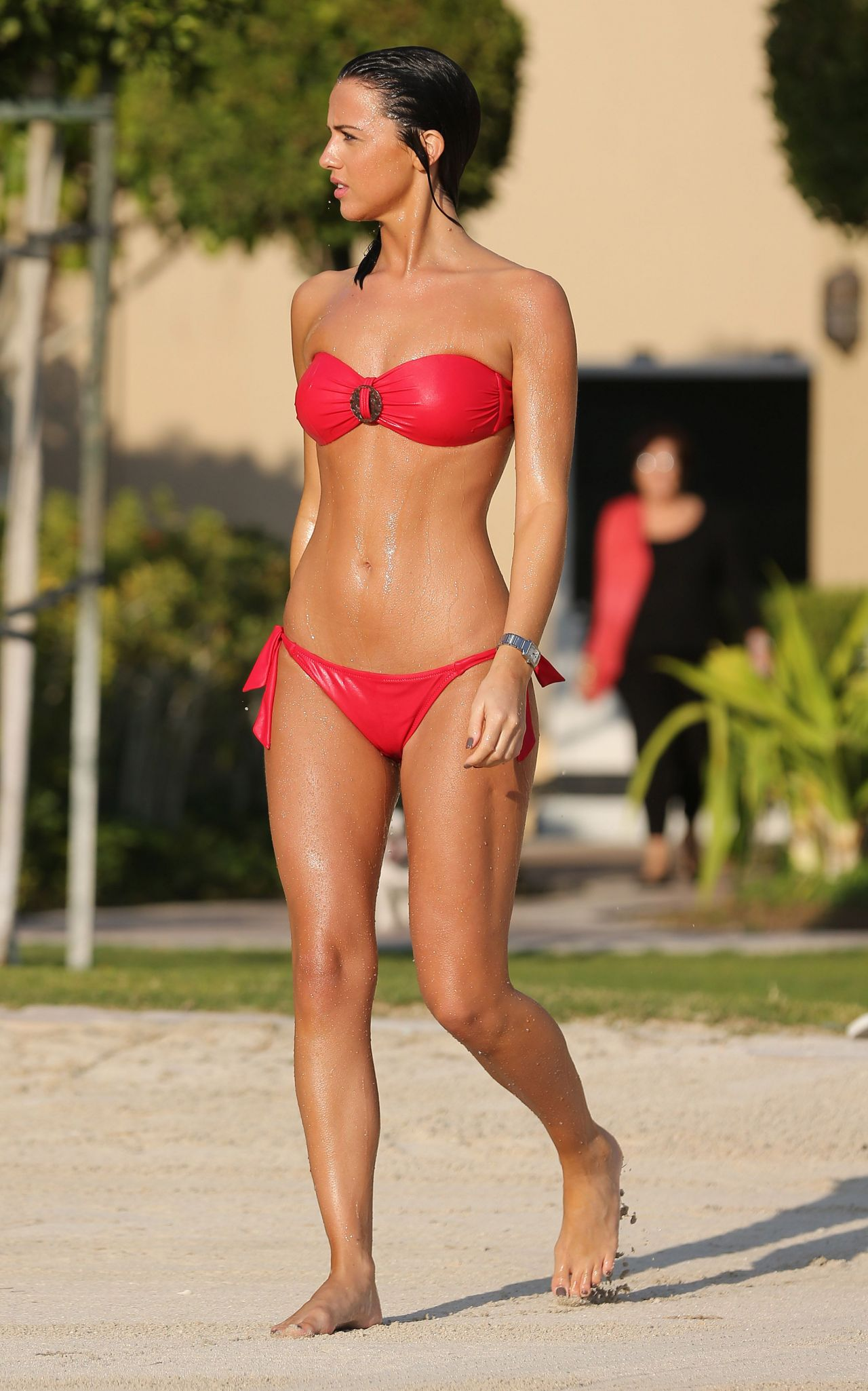 Lucy Mecklenburgh in Red Bikini