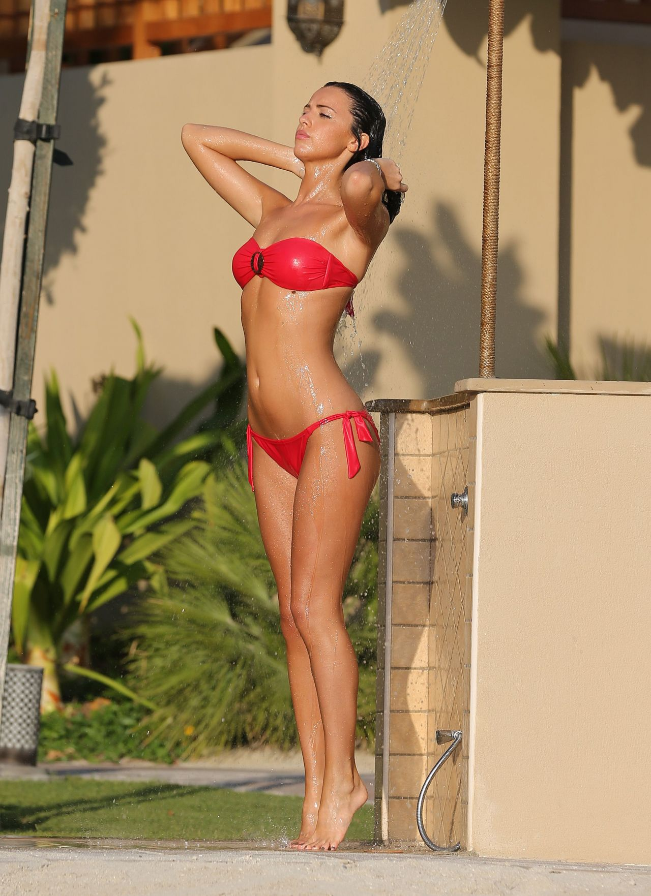Lucy Mecklenburgh In Red Bikini Dubai January 2014