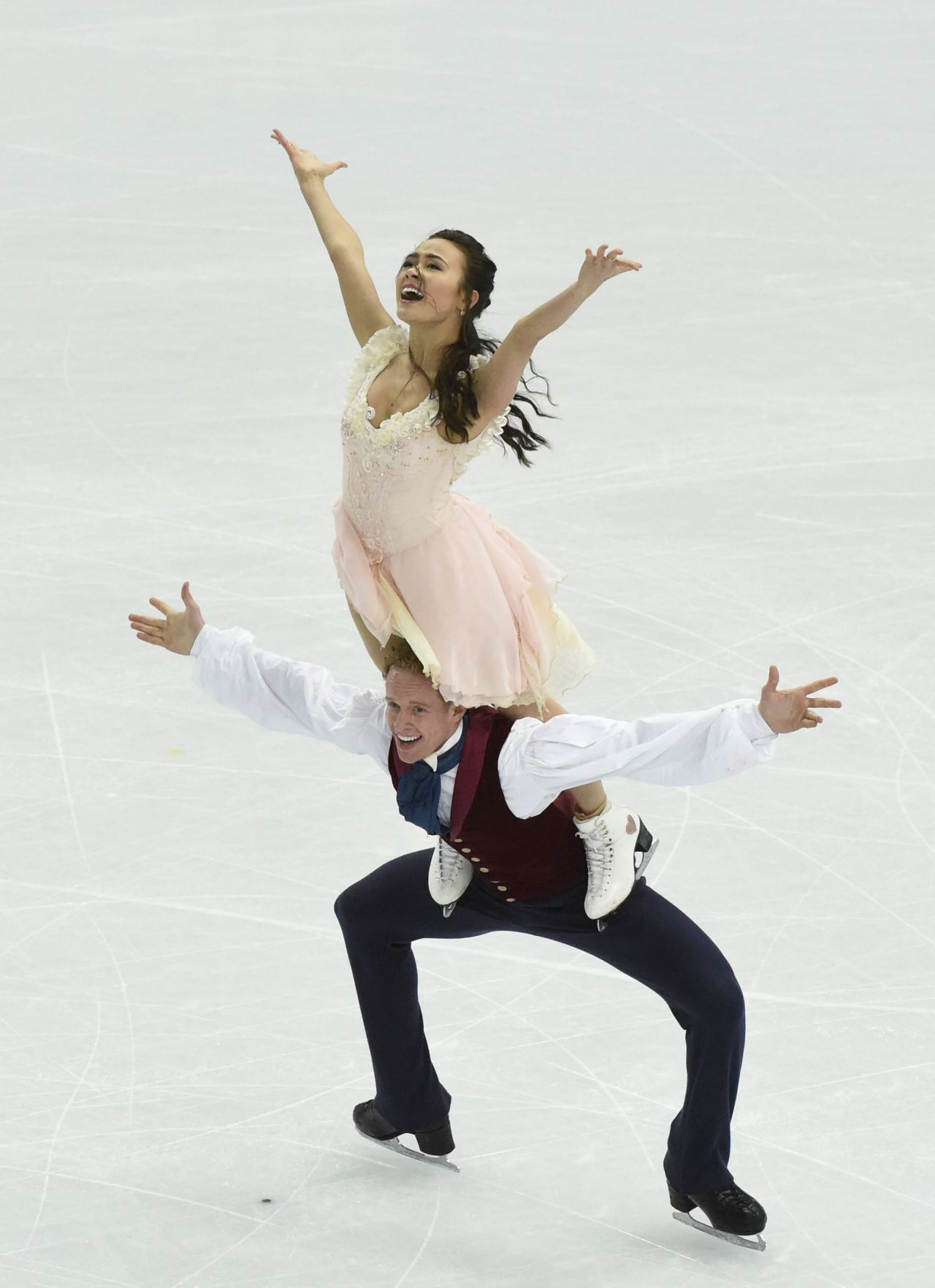 Madison Chock 2014 Sochi Winter Olympics Figure