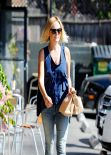 Malin Akerman in Jeans - Goes Out for Lunch - Los Angeles, February 2014