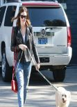 Mandy Moore in Jeans - Goes To a Vet in Los Feliz, Feb. 2014