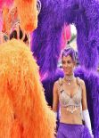 Maria Menounos As A Las Vegas Showgirl Extra Set