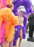 Maria Menounos as a Las Vegas Showgirl