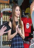 Maria Menounos at Universal Studios - Films an Oscars segment for