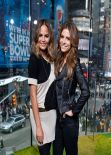 Maria Menounos & Chrissy Teigen - Set of EXTRA in New York, January 2014