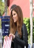 Maria Menounos - On The Set of Extra in Universal City