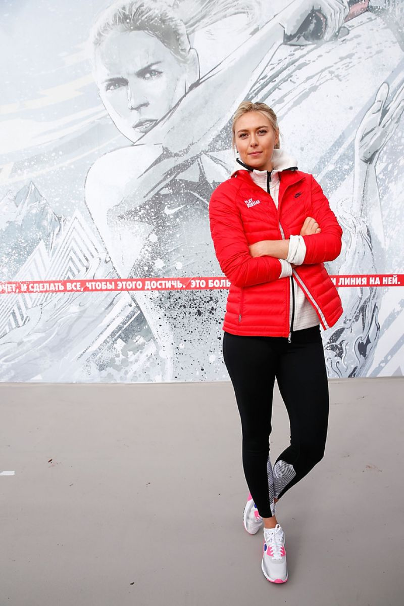 Maria Sharapova - Reopening of Her hometown Tennis Court in Sochi - February 2014