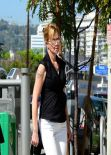 Melanie Griffith Street Style - Out in Beverly Hills - February 2014