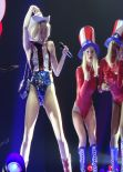 Miley Cyrus Perfoming on Bangerz Tour in Anaheim - February 2014