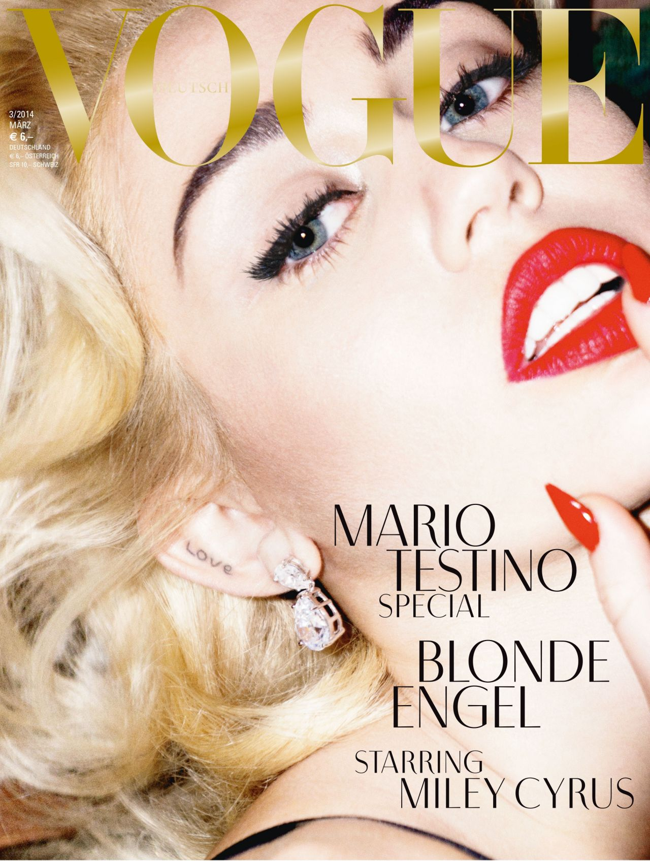 Miley Cyrus - VOGUE Magazine (Germany) - March 2014 Cover