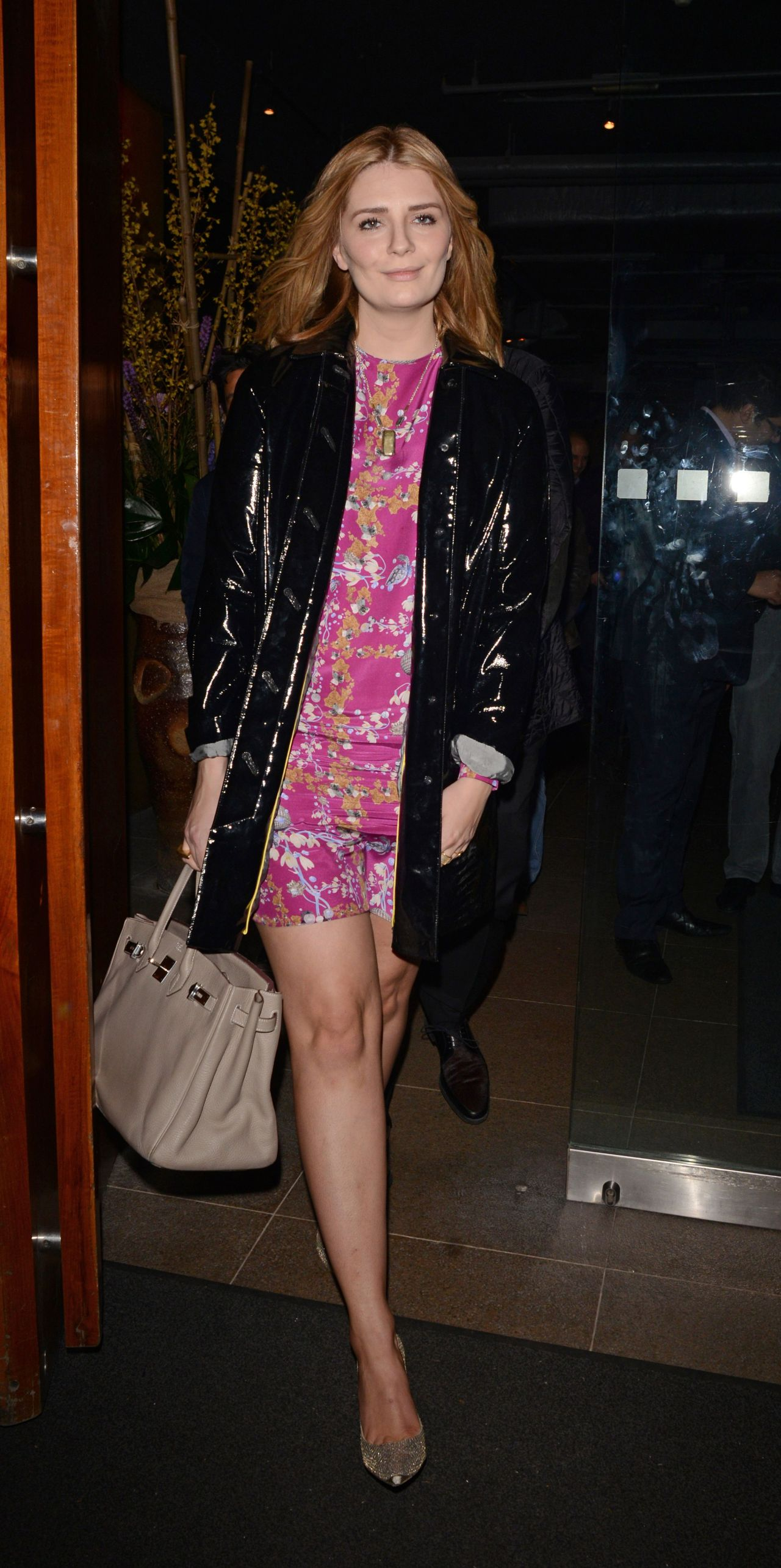 Mischa Barton Night Out Style - Zuma Restaurant in London, February 2014
